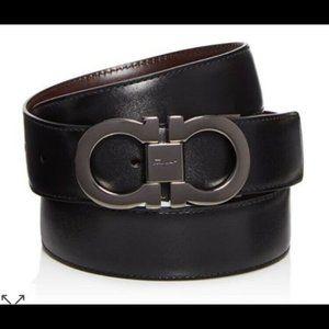$430 SALVATORE FERRAGAMO Reversible Belt 32 NEW